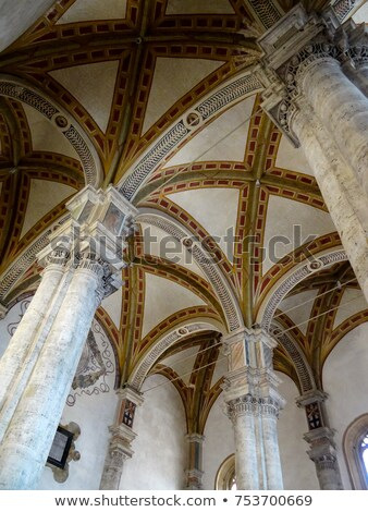 Ceiling of church Pienza Stock photo © w20er