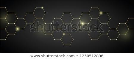 Złoty plaster miodu tekstury streszczenie świetle Zdjęcia stock © nelsonart