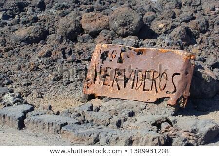Sign of Los Hervideros, Lanzarote  Stock photo © meinzahn