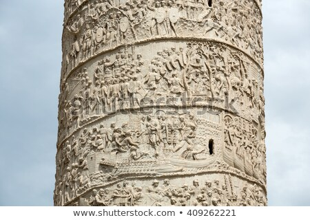 ruins of roman forum trajans column in rome stock photo © artjazz