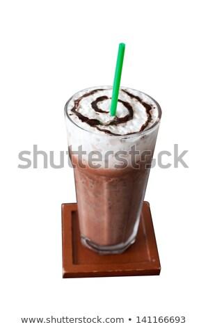 cam · çikolata · iki · yüzlü · yalıtılmış · beyaz · buz - stok fotoğraf © danielgilbey