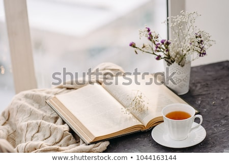 Сток-фото: горячей · утра · чай · ретро · фото · Vintage