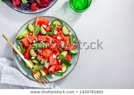 Kaas komkommer voedsel zomer salade dining Stockfoto © M-studio