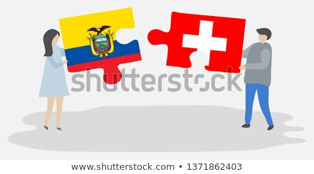 swiss and ecuador flags in puzzle stock photo © istanbul2009