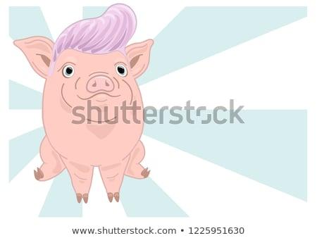 см. портфеля больше Cartoon свиней Сток-фото © artcreator