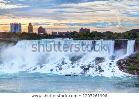 powerful bridal veil falls with niagara stock photo © hofmeester