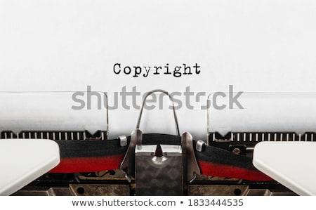 Droit d'auteur vintage design pourpre droit rétro Photo stock © tashatuvango