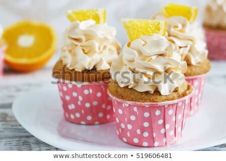 Whipped cream  orange cake Stock photo © punsayaporn