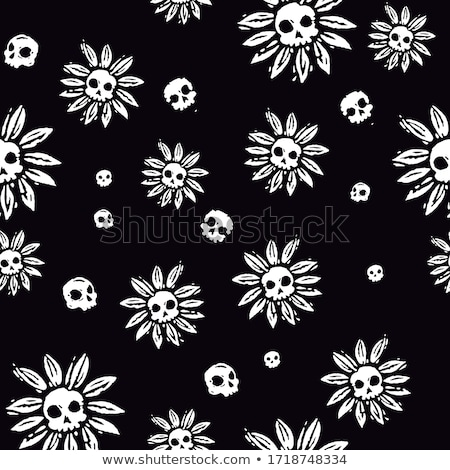 Floral skull Stock photo © polygraphus