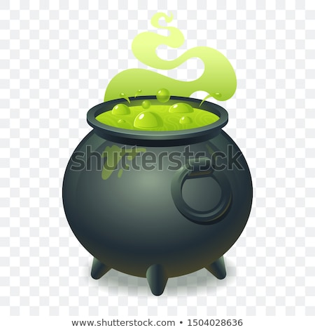 Potion brewed and boiling in the cauldron Stock photo © orensila