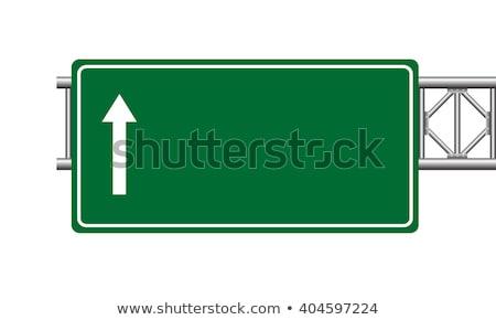 Idea on Green Highway Signpost. Stock photo © tashatuvango