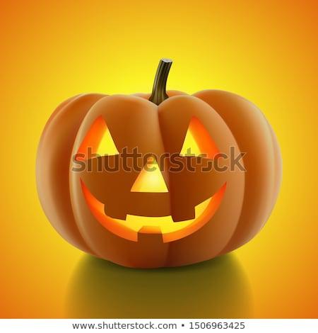 оранжевый · Хэллоуин · освещение · тыква · лицах - Сток-фото © anonedsgn