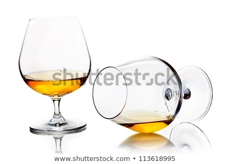 Vidrio brandy blanco alcohol pub lujo Foto stock © gemenacom