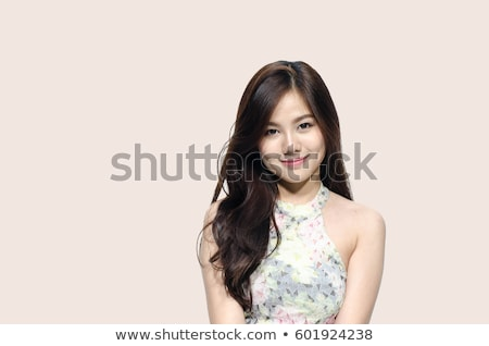 Timide asian fille souriant portrait Photo stock © elwynn