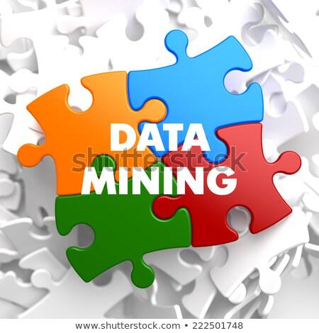data mining on multicolor puzzle stock photo © tashatuvango