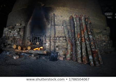 Foto stock: Madeira · carvão · vegetal · luz · texturas · trabalhador · lutar
