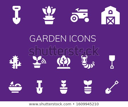set icons caterpillar tractors black silhouette vector illustrat Stock photo © konturvid