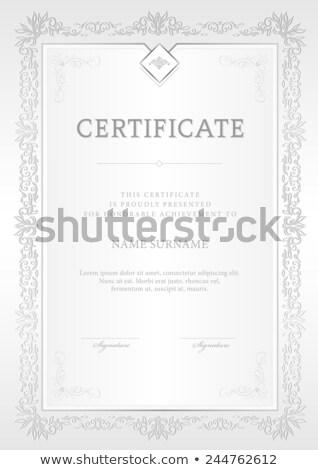 вертикальный золото серебро Подарочный сертификат украшение декоративный Сток-фото © liliwhite