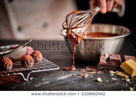 doce · caseiro · foco · direito · saúde · chocolate - foto stock © siavramova