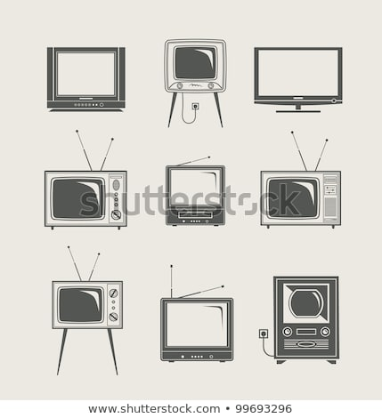 icons lcd tv and domestic cinema stock photo © konturvid