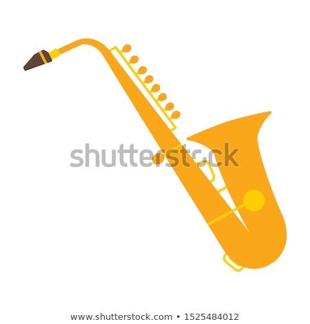 illustration with a saxophone Stock photo © maximmmmum