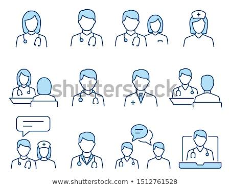 outline color medical icons set Stock photo © TRIKONA