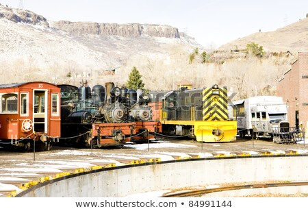 Diesel locomotive Colorado chemin de fer musée USA Photo stock © phbcz