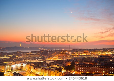 Lisboa linha do horizonte céu edifício construção viajar Foto stock © joyr