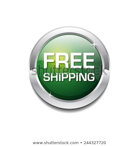 Photo stock: Free Shipping Glossy Shiny Circular Vector Button