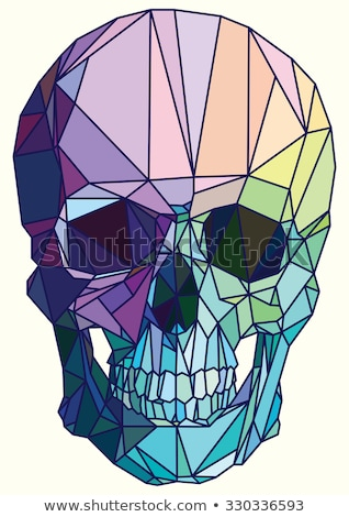 colorful dark violet abstract geometric low poly style vector illustration graphic background stock photo © mcherevan