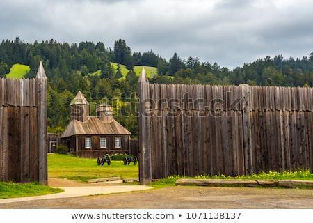 Fort Californie été mur église Photo stock © MichaelVorobiev