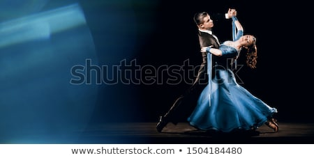 Passionate Couple Over Black Background Stock photo © AndreyPopov