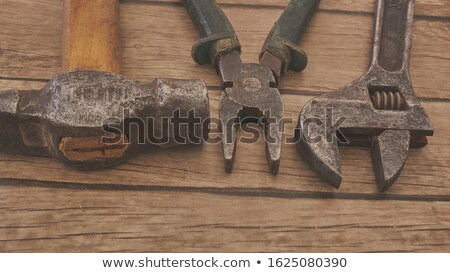 Hammer, caliper, file and wrench  Old tools Stock photo © Klinker