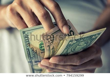 деньги заем доллара человека Сток-фото © stevanovicigor
