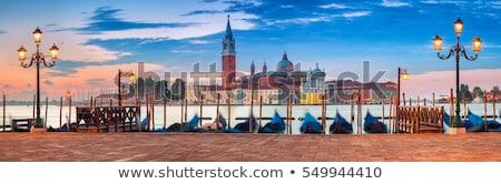 Panorama Venecia panorámica vista barcos casas Foto stock © MichaelVorobiev