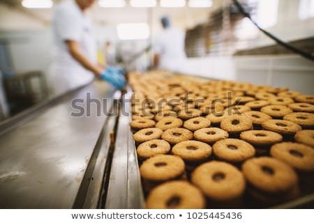Сток-фото: Production Cookie In Factory