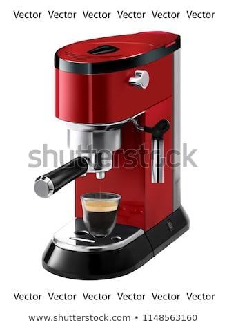kávéfőző · kávé · fém · étterem · ital · kávézó - stock fotó © ozaiachin