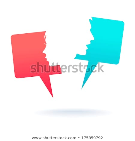 man and woman dialog icon stock photo © blumer1979