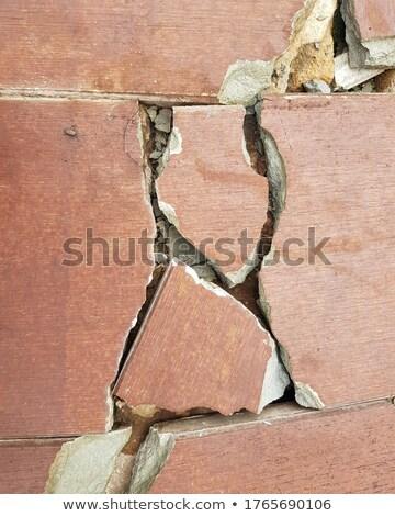 Close up of a worn Tile floor Full Frame Stock photo © gemenacom