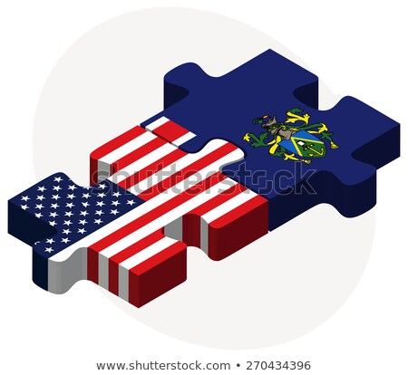 USA and Pitcairn Islands Flags in puzzle stock photo © Istanbul2009