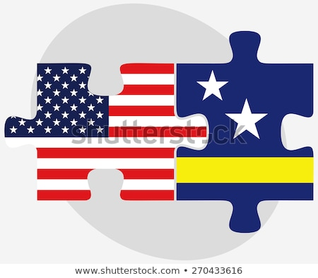 USA vlaggen puzzel vector afbeelding geïsoleerd Stockfoto © Istanbul2009