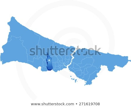 Map of Istanbul with each administrative district where Avcilar  Stock photo © Istanbul2009