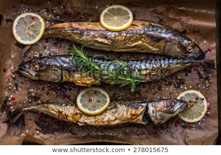Baked Fish on a Roaster Pan Stock photo © Kayco