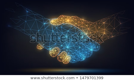Business Cooperation Concept with with two businessmen Stock photo © vectorikart