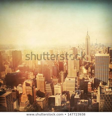 New York skyscrapers on bright day Stock photo © Elnur