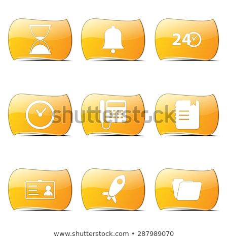 Time Duration Yellow Vector ButtonIcon Design Set Stock photo © rizwanali3d