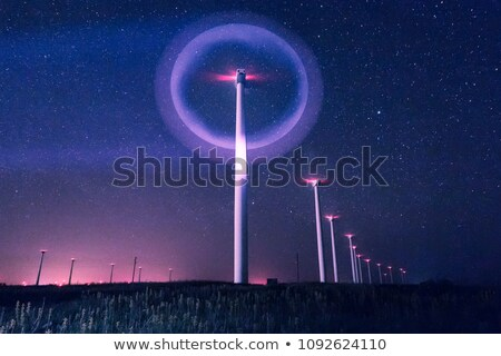 Stars and a windmill at night Stock photo © artistrobd