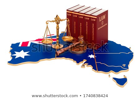 a gavel and a law book   australia stock photo © zerbor