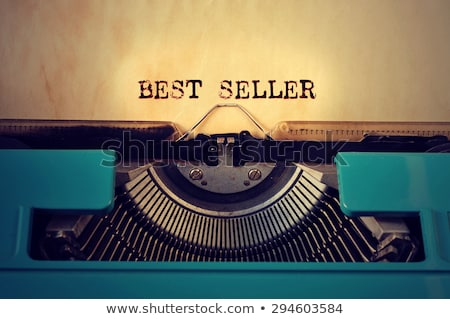 retro typewritter and text best seller written with it Stock photo © nito