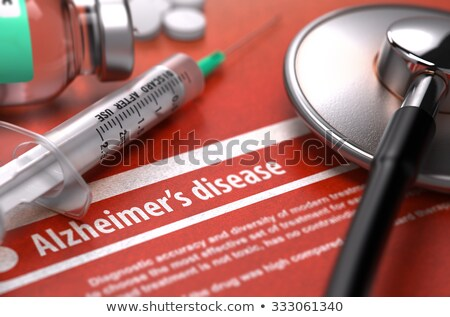 diagnosis   alzheimers disease medical concept with blurred background stock photo © tashatuvango